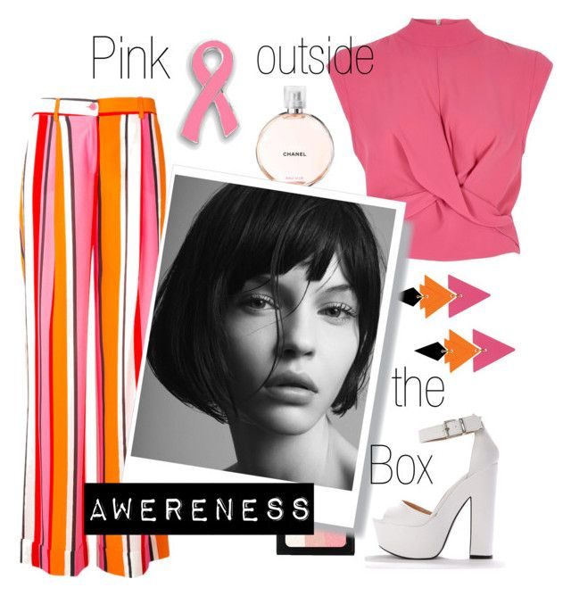 """«Pink outside the box»"" by frida-marie-ording on Polyvore featuring P.A.R.O.S.H., River Island, Toolally, Chanel, Bobbi Brown Cosmetics, Pink, orange and breastcancerawareness"