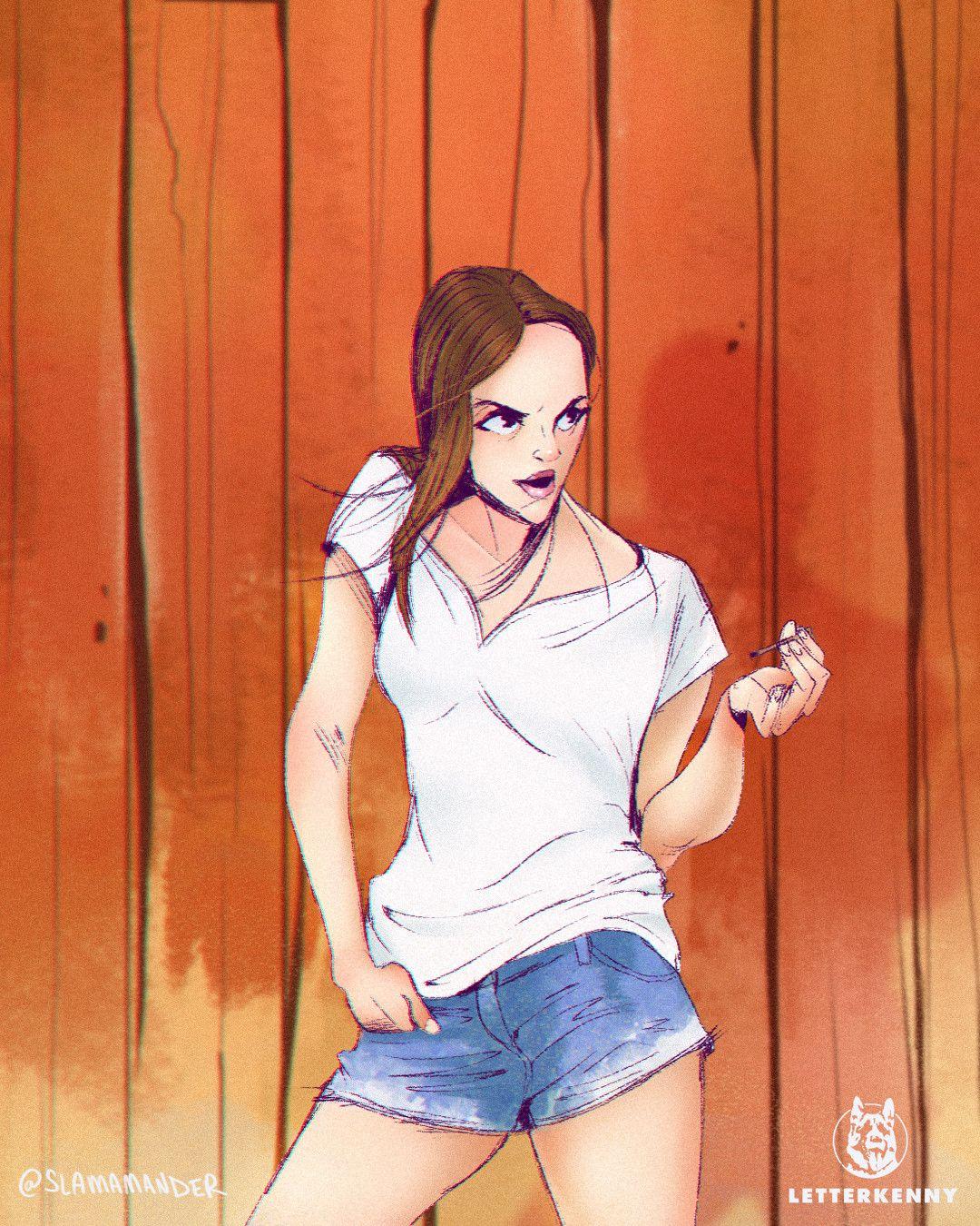 Letterkenny Animated Katy By Rudy Slama Slamamander Letterkenny Animation Katy