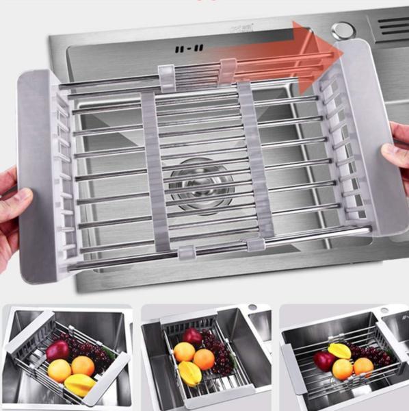 retractable sink rack sink drying