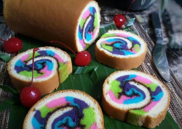 Resep Mosaic Roll Cake Bolu Gulung Mosaic Oleh Diyah Kuntari Resep Kue Mangkok Resep Kue Gulung