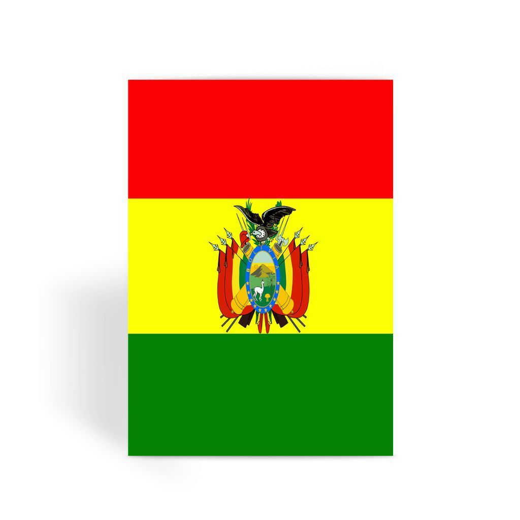 Flag Of Bolivia Greeting Card Greeting Cards Cards Flag