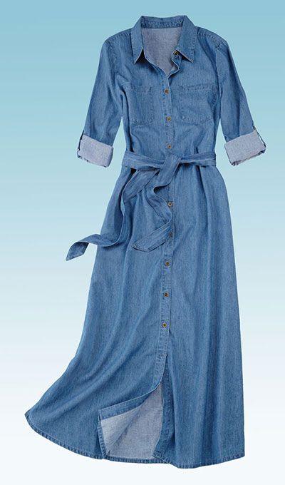 47+ Long denim dress ideas