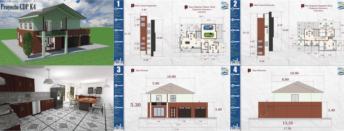 kilotapias #espaciohonduras Diseños y planos de casa de dos pisos ...