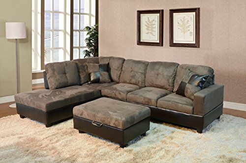 Incredible Beverly Furniture 3 Piece Microfiber And Faux Leather Spiritservingveterans Wood Chair Design Ideas Spiritservingveteransorg