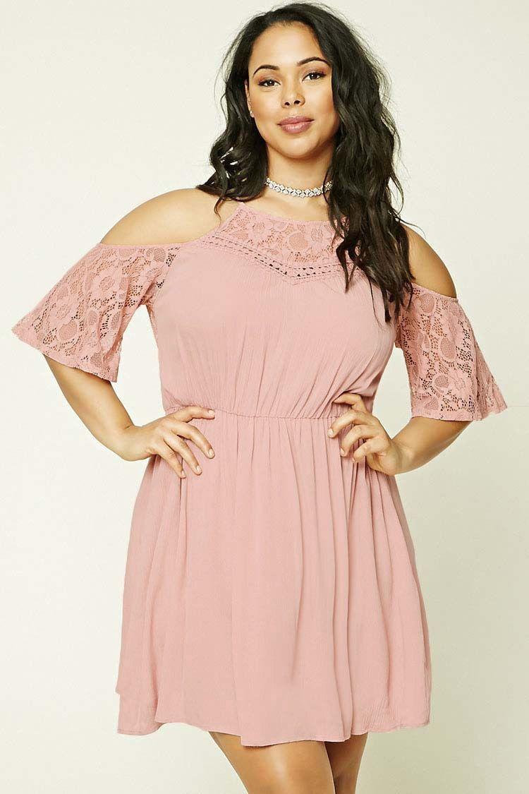 Plus Size Open Shoulder Dress   confección   Pinterest   Vestido ...