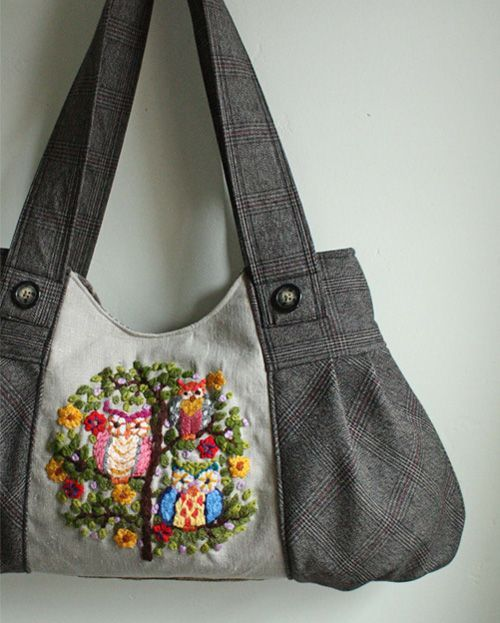Bolso de tela bolsas de tela pinterest bolsos de tela tela y bolsos - Bolsos de tela hechos en casa ...