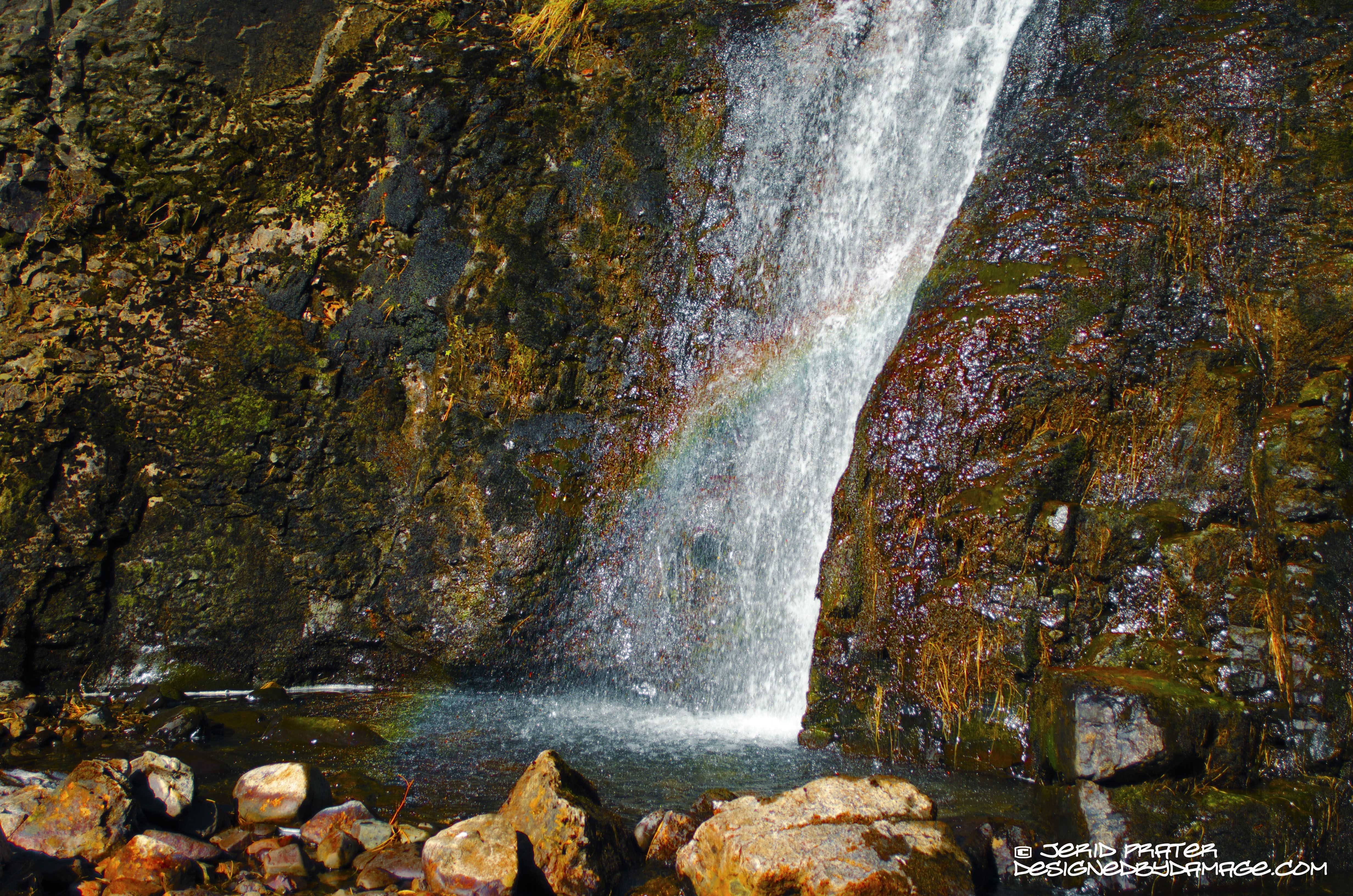 A rainbow from the early set of Fairy Pools outside of Glen Brittle - Isle of Skye, Scotland
