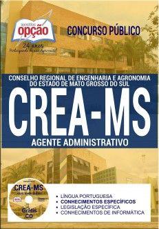 Apostila Crea Ms Agente Administrativo Impressa Ou Pdf Download