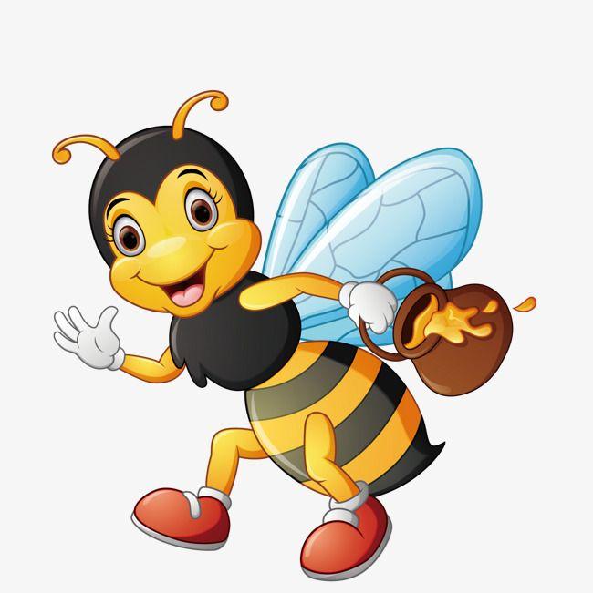 يحمل نحل العسل Png و فيكتور Cartoon Bee Cartoon Animals Cartoon
