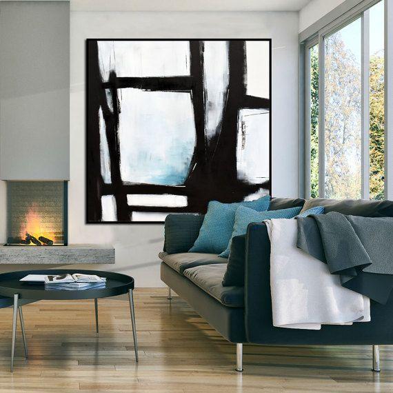 original gro e abstrakte kunst malerei auf leinwand black bilder pinterest malerei kunst. Black Bedroom Furniture Sets. Home Design Ideas