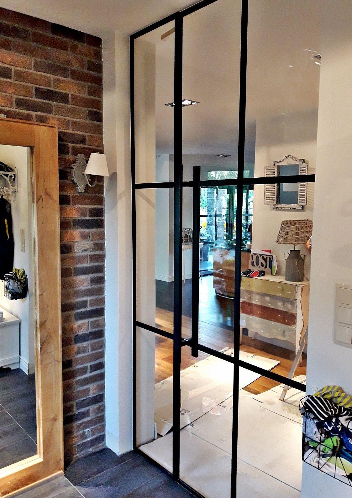 Szklane Wysokie Drzwi Rozwierane Jednoskrzydłowe Z