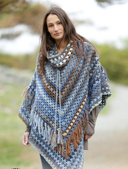 5 Free and Fabulous Crochet Poncho Patterns (Little Treasures ...