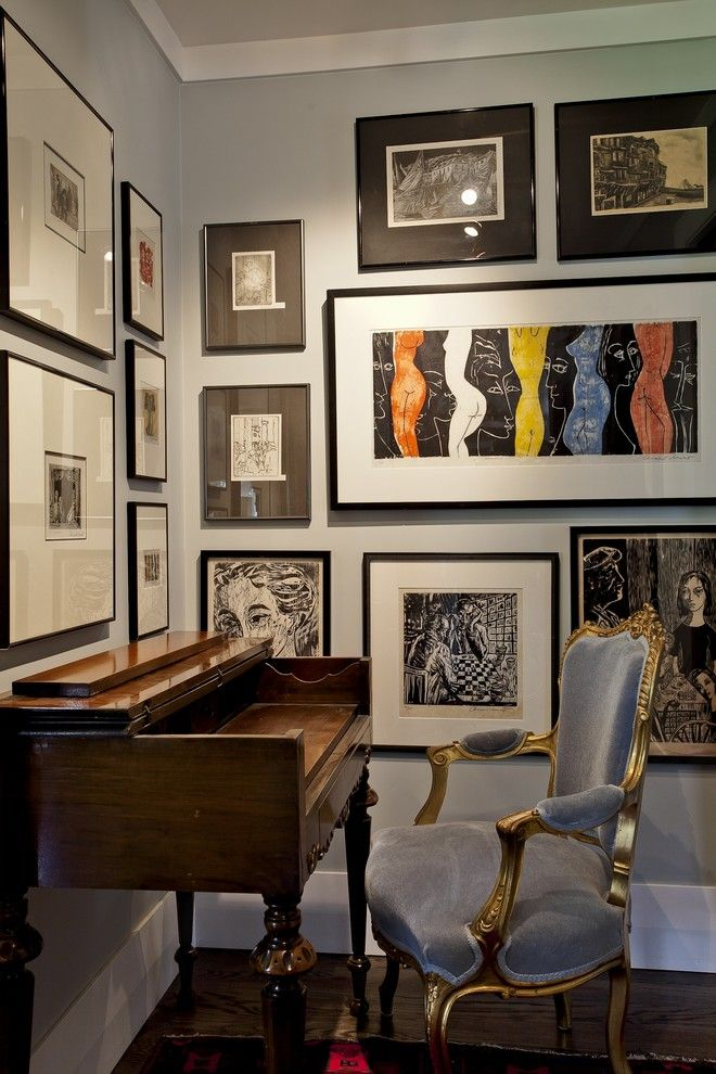 Art display home office contemporary home renovations