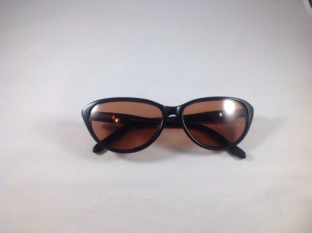 41d61e9d51 Vintage SERENGETI BLACK CATSEYE ISLES DR 6402 Sunglasses Womens CAT EYE  STYLE