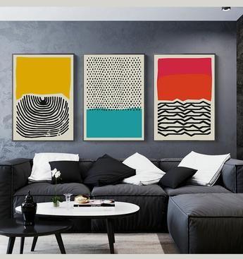 Geometric Canvas Print Blue 3 Designs In 2020 Modern Canvas Art Abstract Decor Modern Art Prints