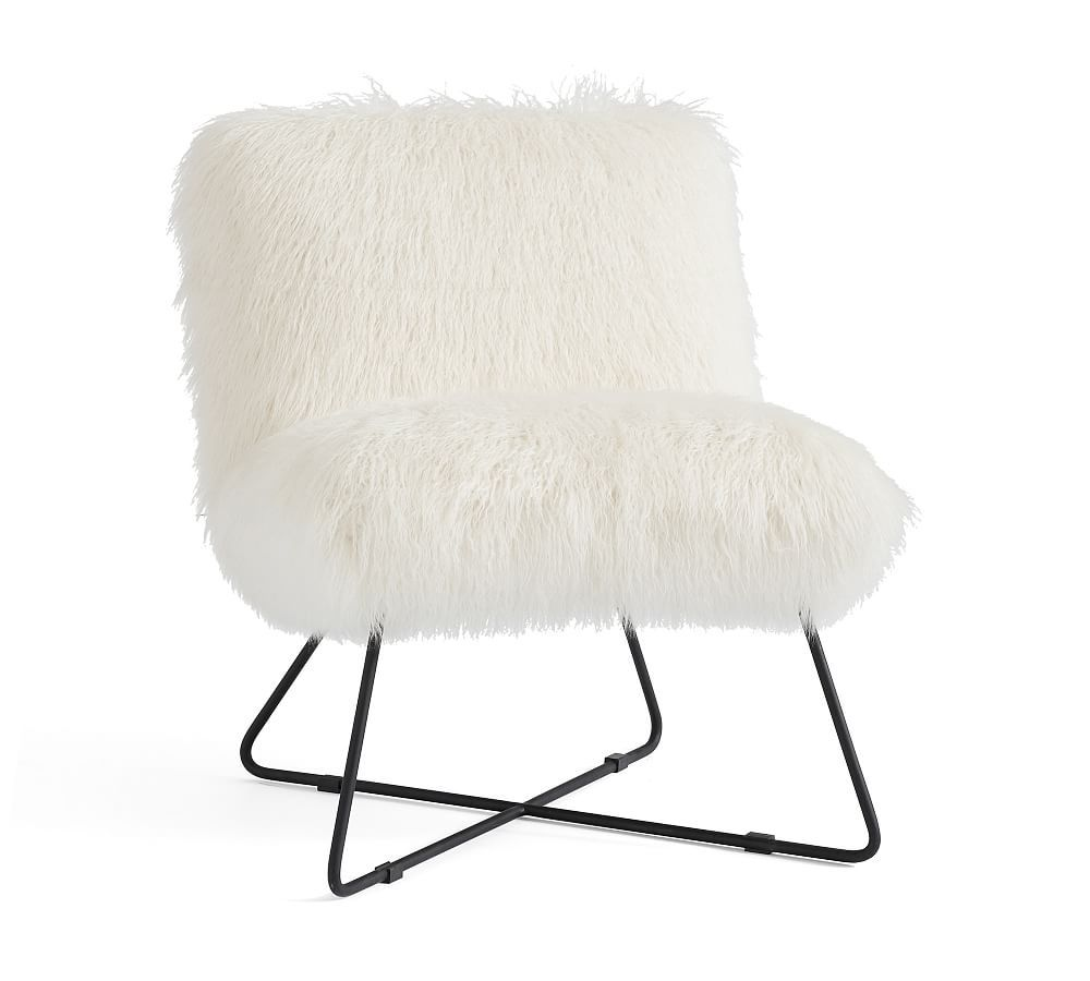 Super Mongolian Faux Fur Accent Chair Products In 2019 Accent Alphanode Cool Chair Designs And Ideas Alphanodeonline