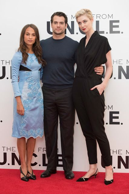 Hot Spies In London The Man From U N C L E Photocall Elizabeth Debicki The Man From Uncle Henry Cavill
