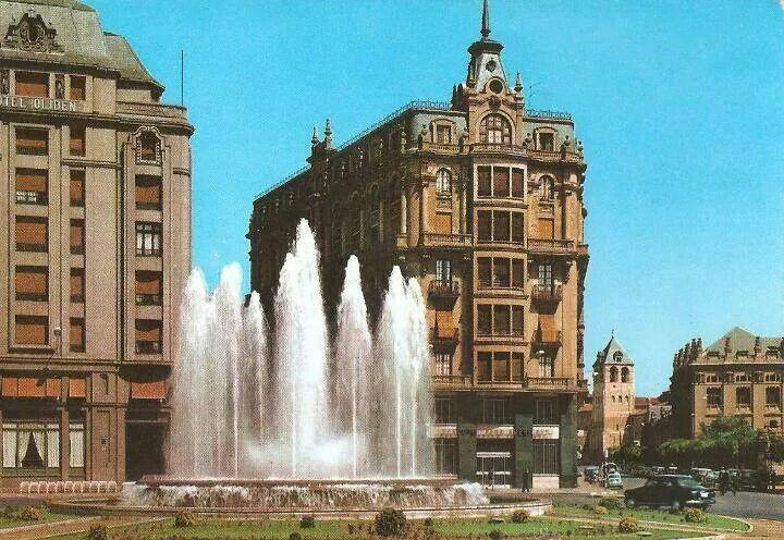 León, fotos antiguas, plaza de santo Domingo,  1960