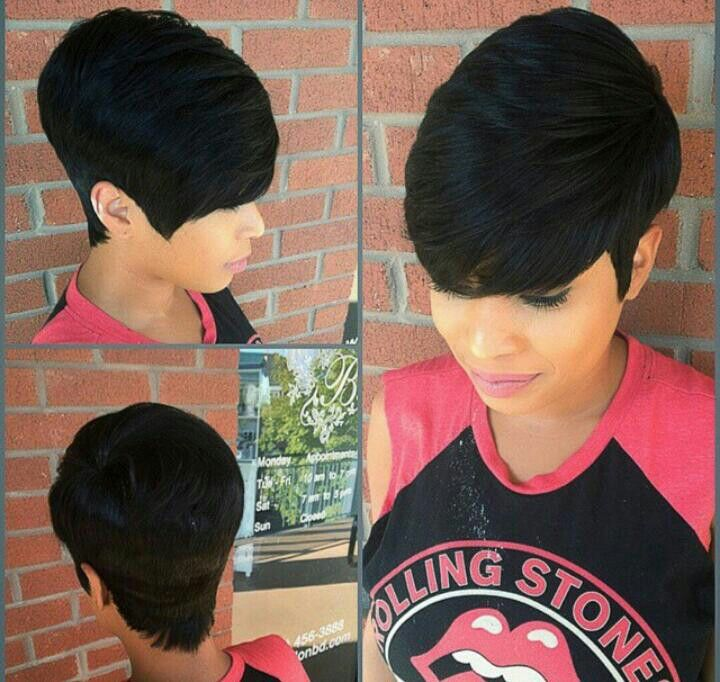 Quick Weave Short Hairstyles Glamorous Nice Cut  Hair And Nails  Pinterest  Human Hair Extensions Hair