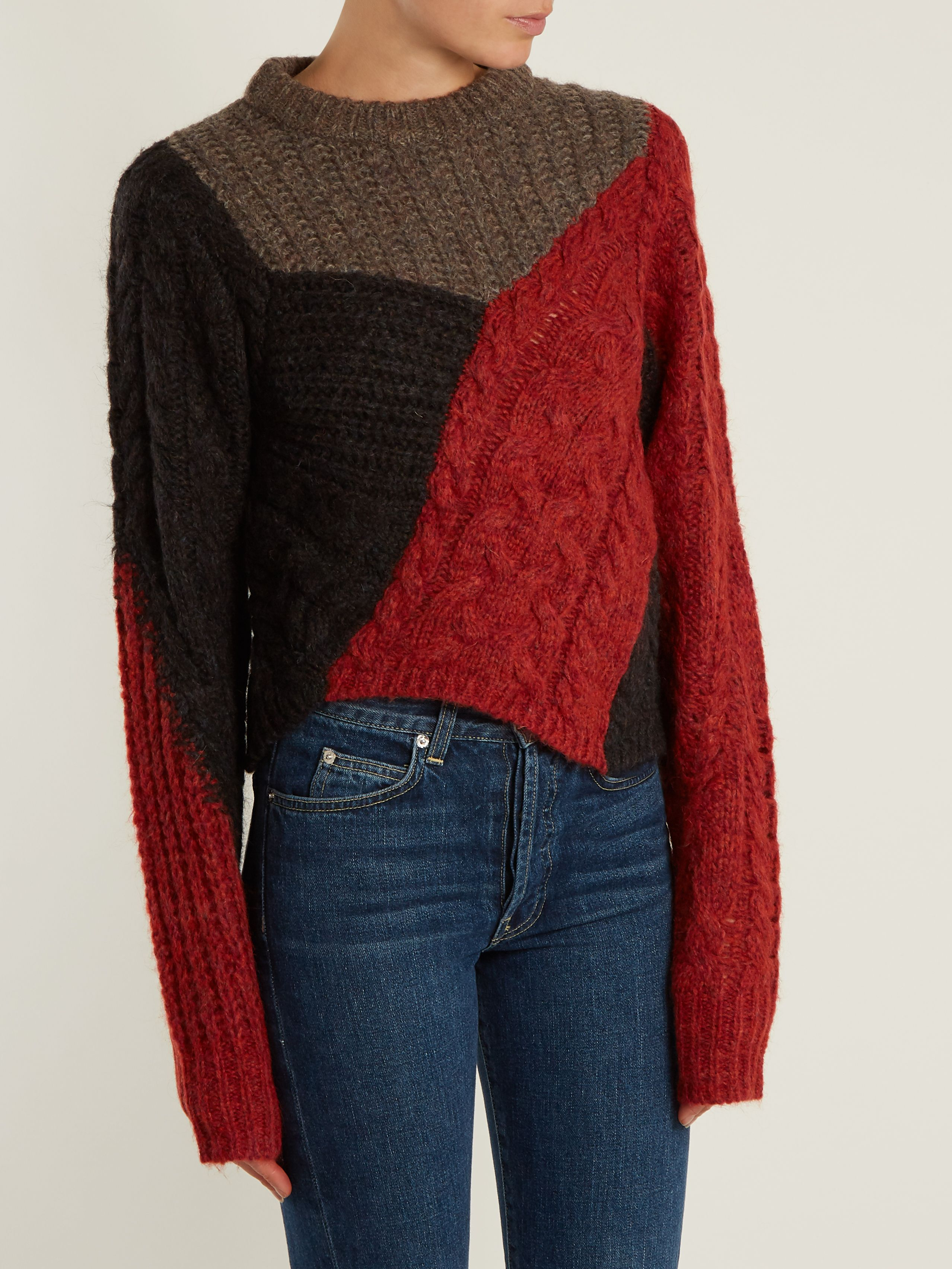 Click here to buy Isabel Marant Étoile Daryl contrast cable-knit ...