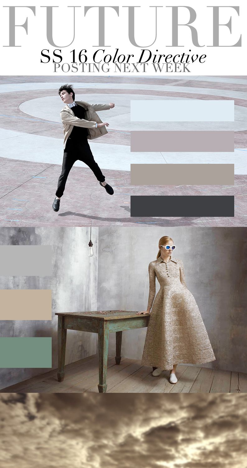 Colour Directive TREND COUNCIL S/S 2016 #fashion #style #forecasting
