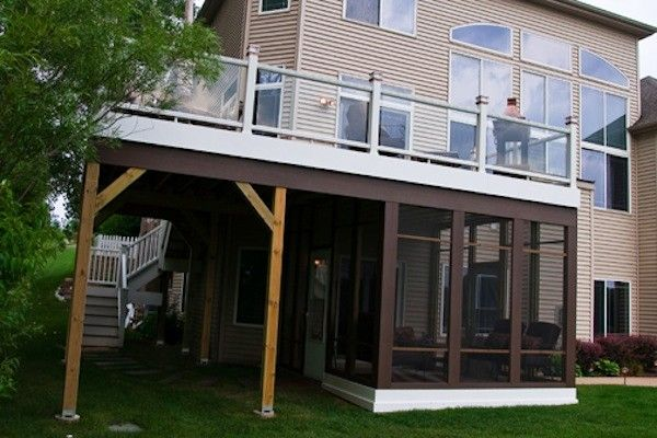 Pin By Rock Solid Builders Inc On Screen Rooms Gazebos Trex Deck Decks Backyard Under Decks