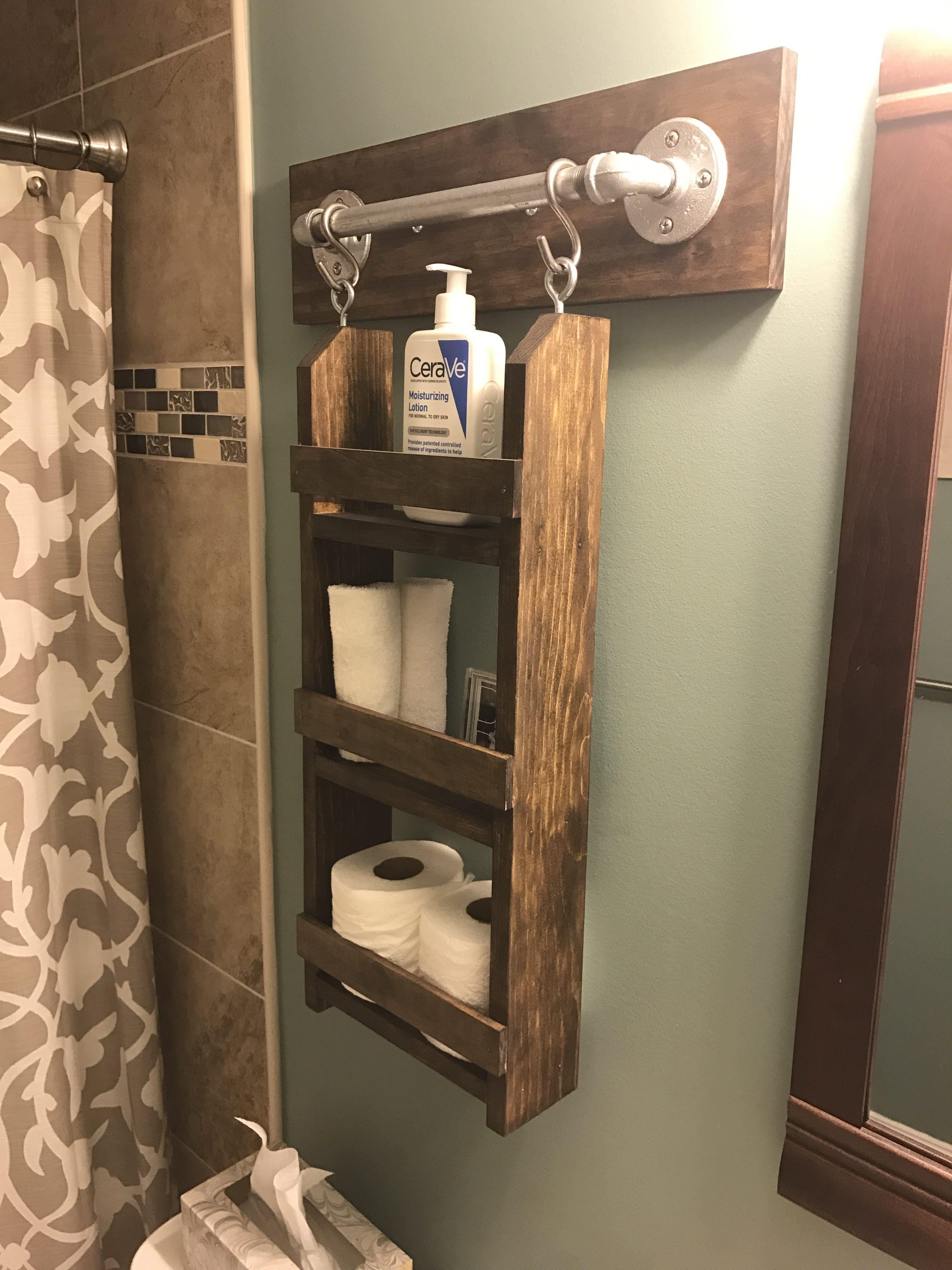 Bathroom Wall Organizer Step By Step Instructions Chisel Fork Bathroom Wall Storage Wall Hanging Storage Bathroom Wall Hanging