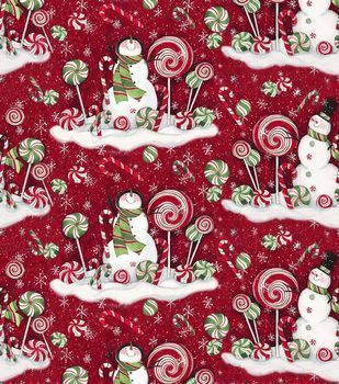 Candy cane snowman red, Joanns fabrics 2014