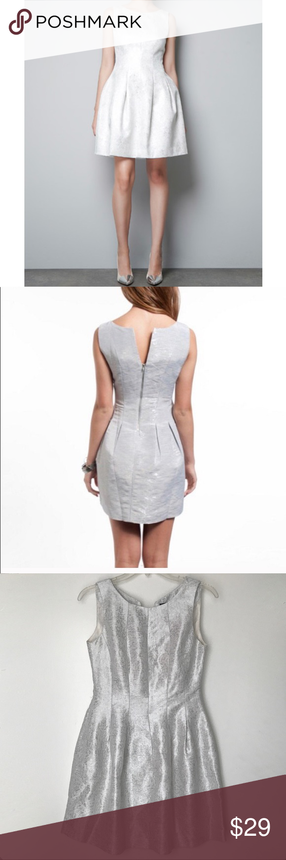 Zara Tulip Silvery Dress Clothes Design Fashion Dresses [ 1740 x 580 Pixel ]