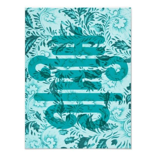 Longevity In Aqua Art Print Feng Shui Longevity Symbol On A Chinese