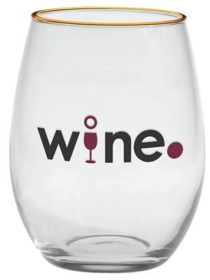 Promotional 21 oz. Stemless White Wine | Customized Wine Glasses | Promotional Wine Glasses