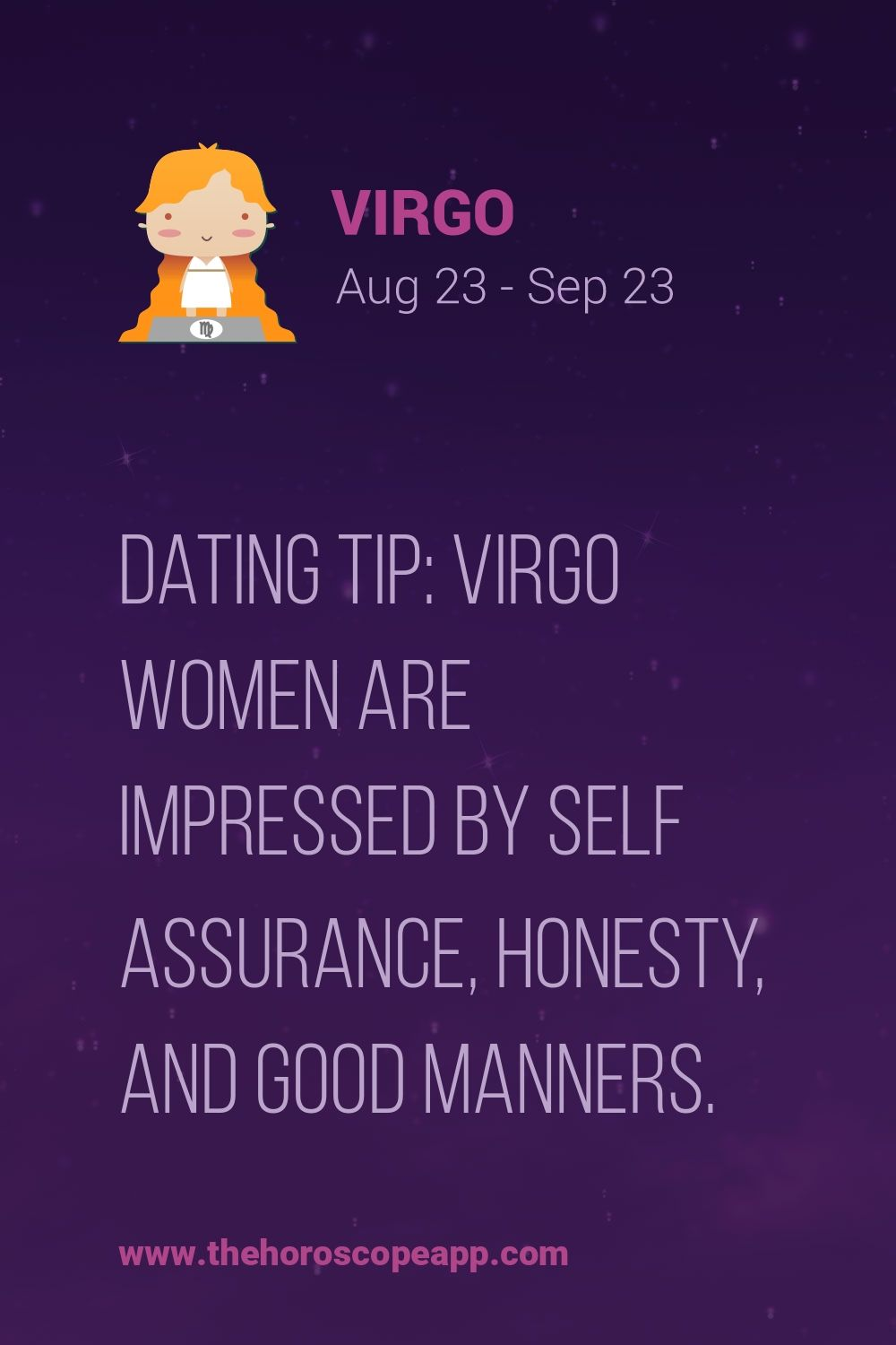 Tips for dating a virgo woman