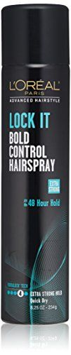 LOreal Paris Advanced Hairstyle Lock It Bold Control Hairspray 825 Ounce