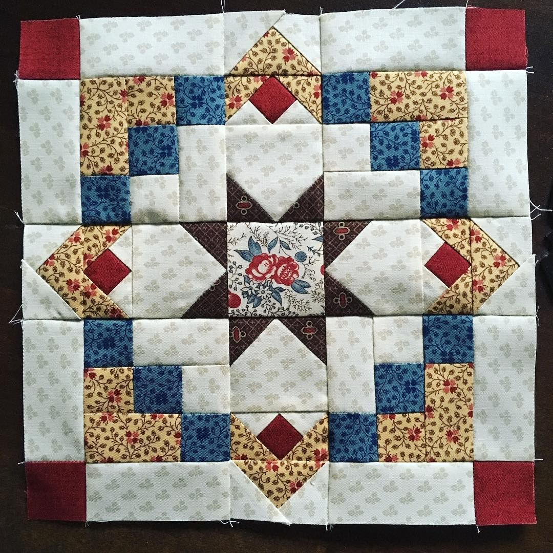 194 Likes 8 Comments Heike Schneider Password Quilt On Instagram And Here Is My Block Number Five Red Blue Quilts Star Quilt Patterns Quilt Patterns