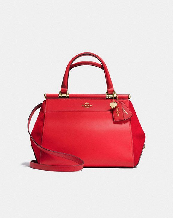 Coach Selena Gomez Pair Up With This Stunning Red Grace Bag For Fall