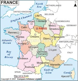 France Map Mares