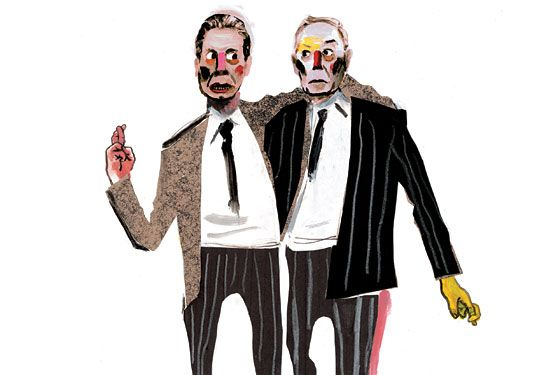 Will Andrew Cuomo And Michael Bloomberg Be Able To Work Together New York Magazine Nymag Illustration Drawing Prints Illustration Art