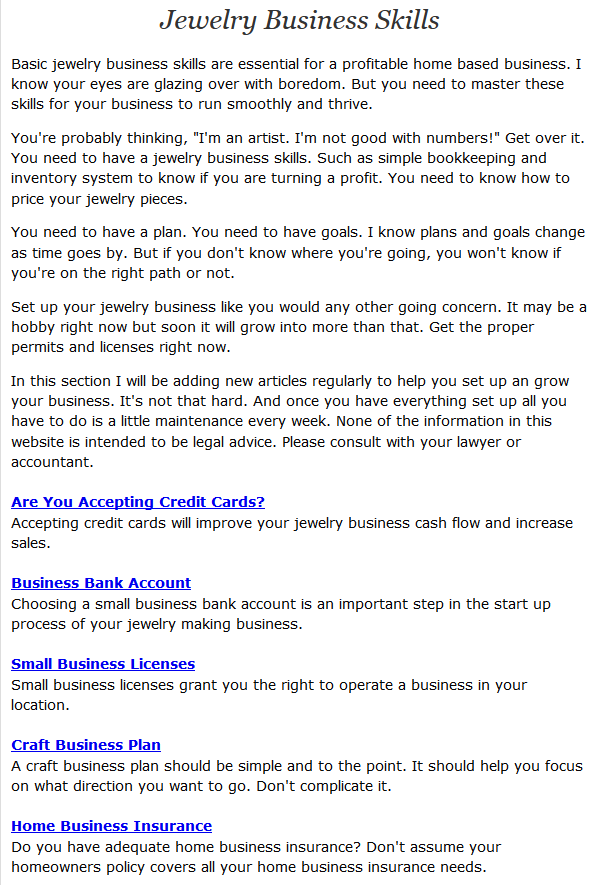 16+ How do you get into the jewelry business ideas