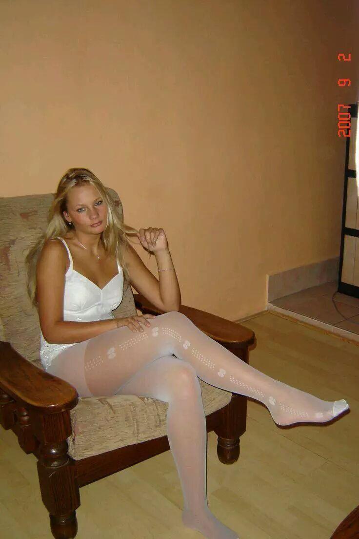 Pin P Girls In White Pantyhose-7421