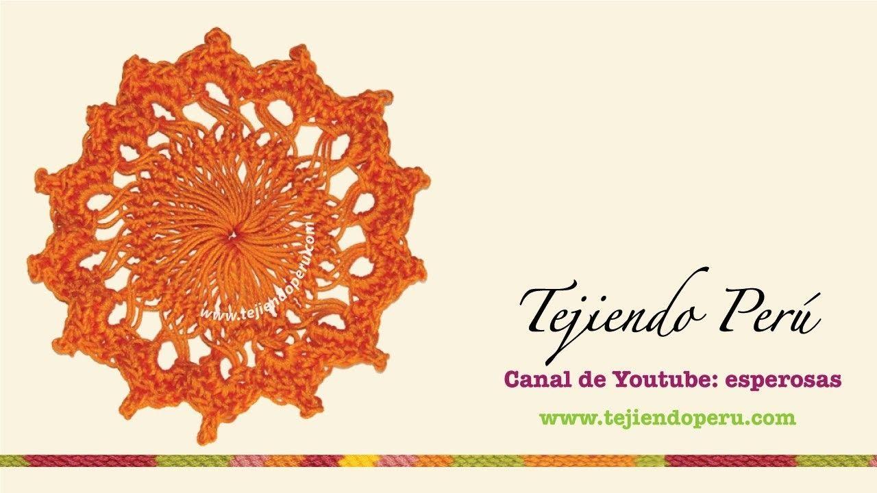 Horquilla (hairpin lace): cómo tejer un motivo circular (# 5 ...