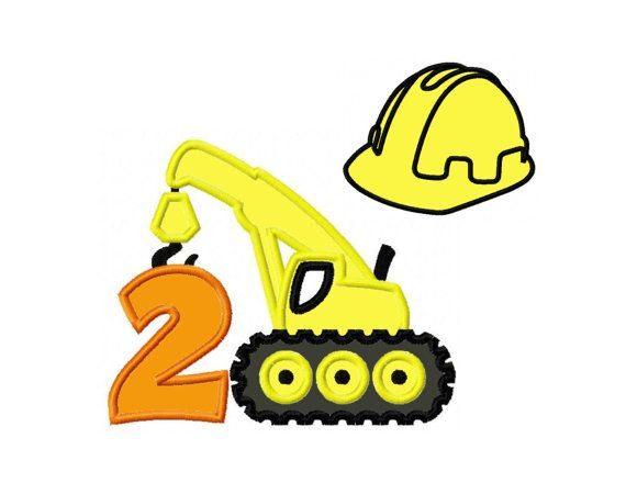 Design Set Construction Crane Birthday Number 2 by PrevailDesigns, $4.50