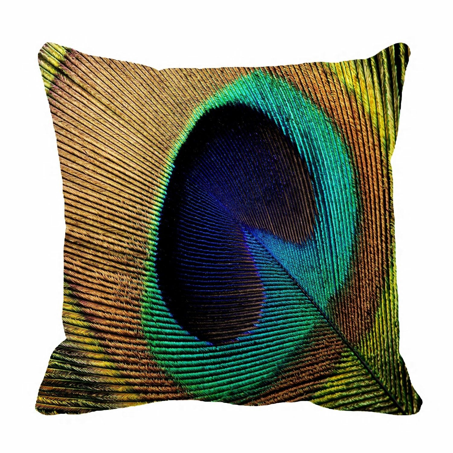 colorful peacock feather Pillow?Case?Pillow?Cover?Cushion?Cover