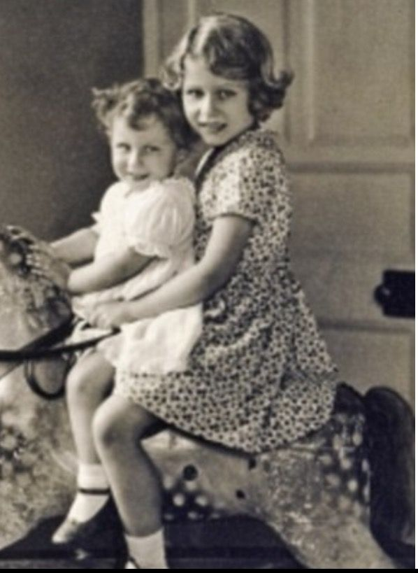 Queen Elizabeth when she was a child.