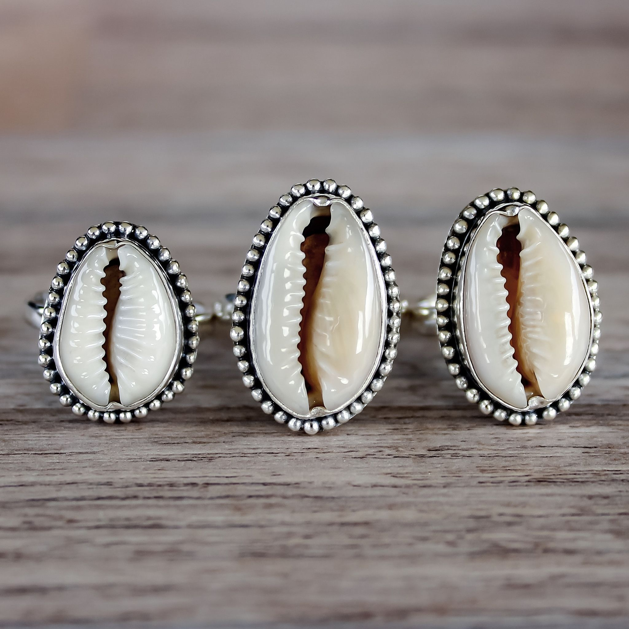 Cowrie Shell Ring  Bohemian Jewelry  Indie And Harper