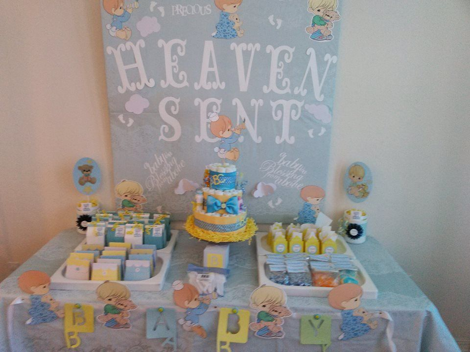 Handmade With Love Precious Moments Themed Baby Shower Baby