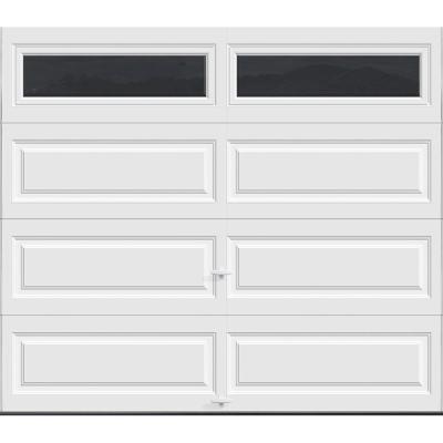 Clopay Gallery Collection 8 Ft X 7 Ft 6 5 R Value Insulated White Garage Door With Sq24 Window Gr1lp Sw Sq24 The Home Depot Garage Doors White Garage Doors Garage Door Design
