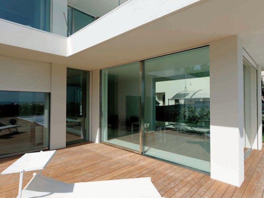 Chiusuar veranda su terrazzo con serramenti acciaio inox | GIARDINO ...