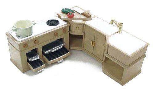 EPOCH Sylvanian Families Calico Critters Furniture Island Kitchen Set K-423 JP