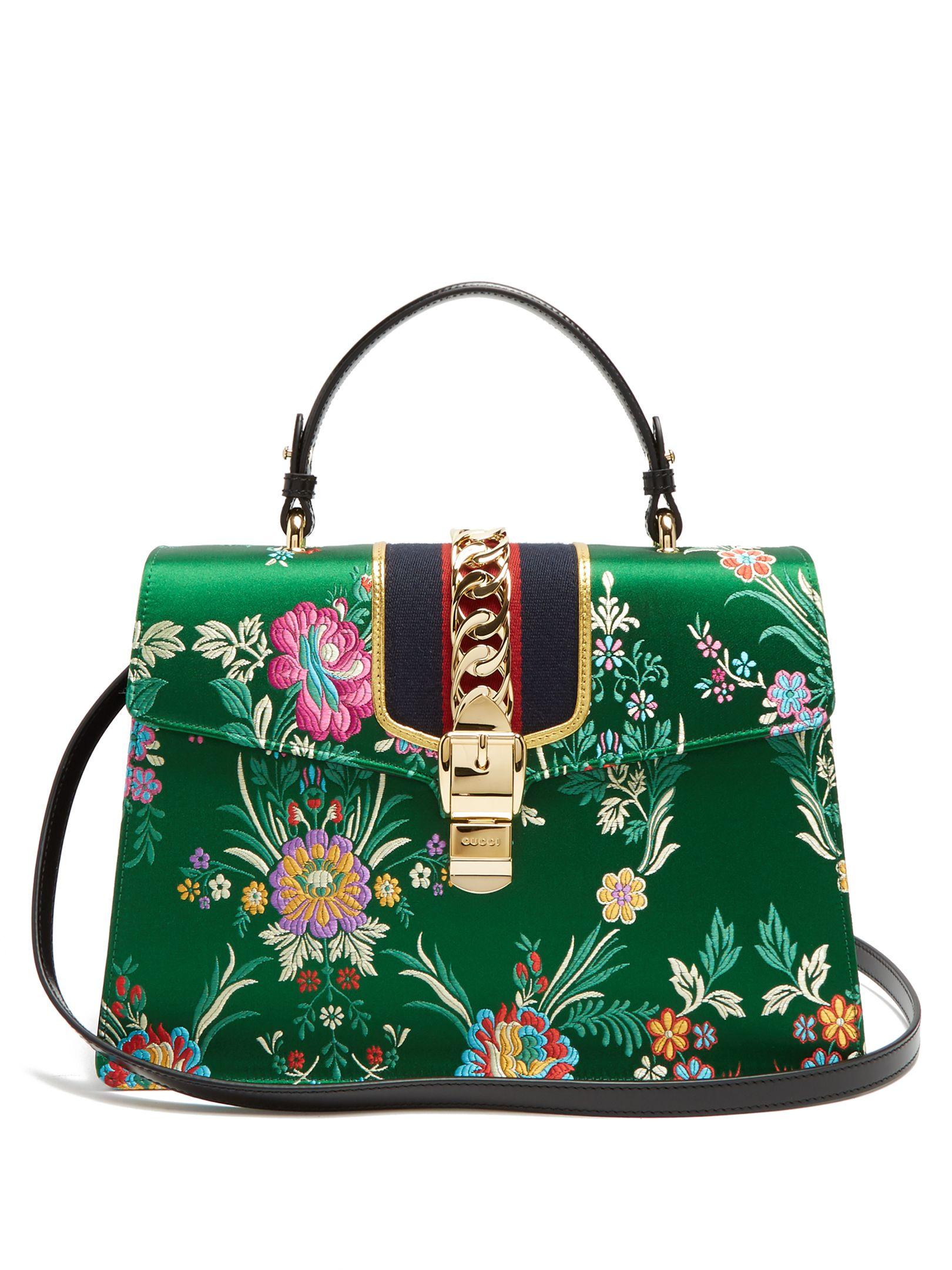 91a077ab5791 Sylvie floral-jacquard shoulder bag   Gucci   MATCHESFASHION.COM US. Sacs  ...