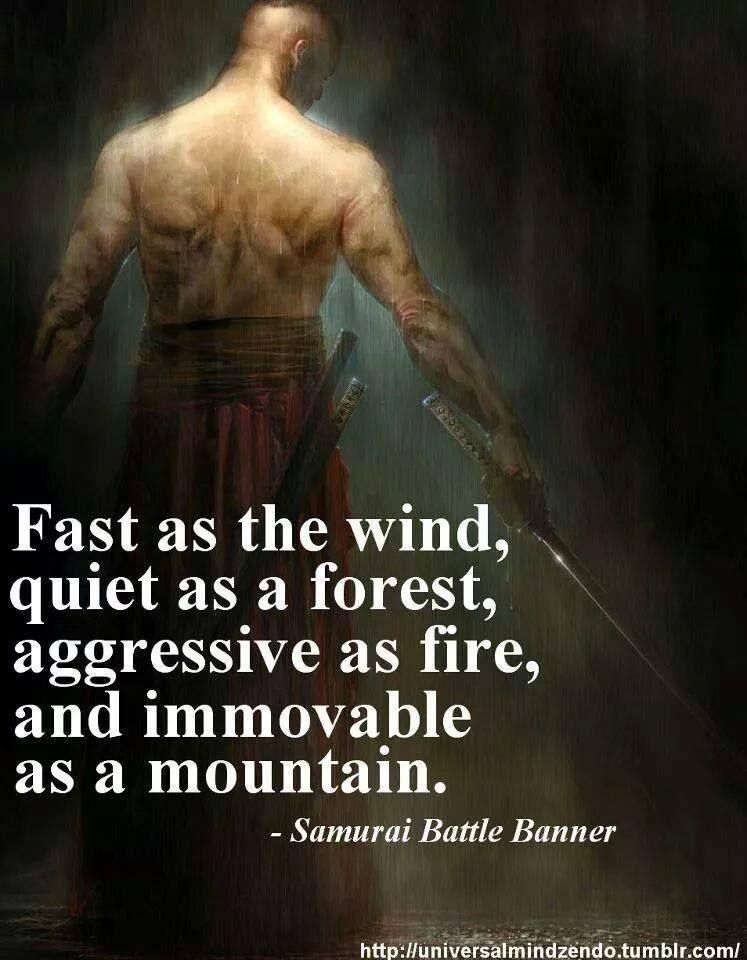 Samurai Battle Banner Martial Arts Quotes Mma Frases Frases De
